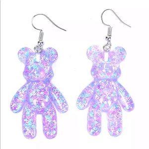 NEW✨ Sparkle Glitter Gummy Bear Dangle Earrings